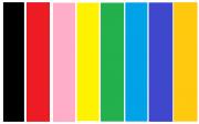 Тест цветные полосы