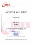 Сертификат РАМИС - авторизированный дистрибьютер Imex